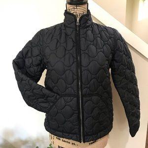GAP quilted coat in black